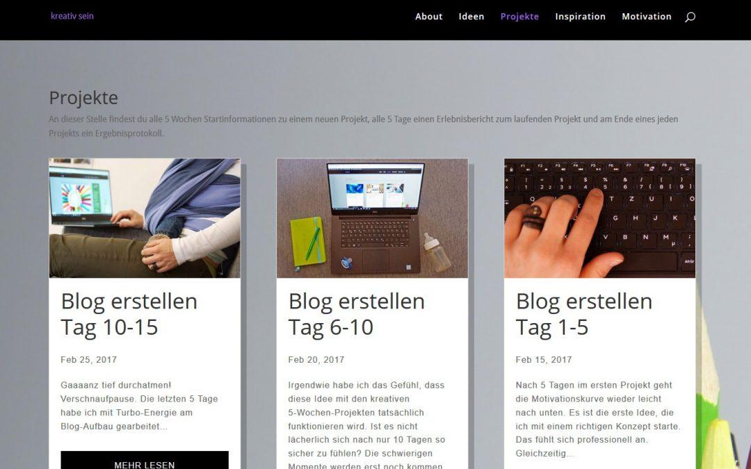 Blog erstellen Tag 16-20