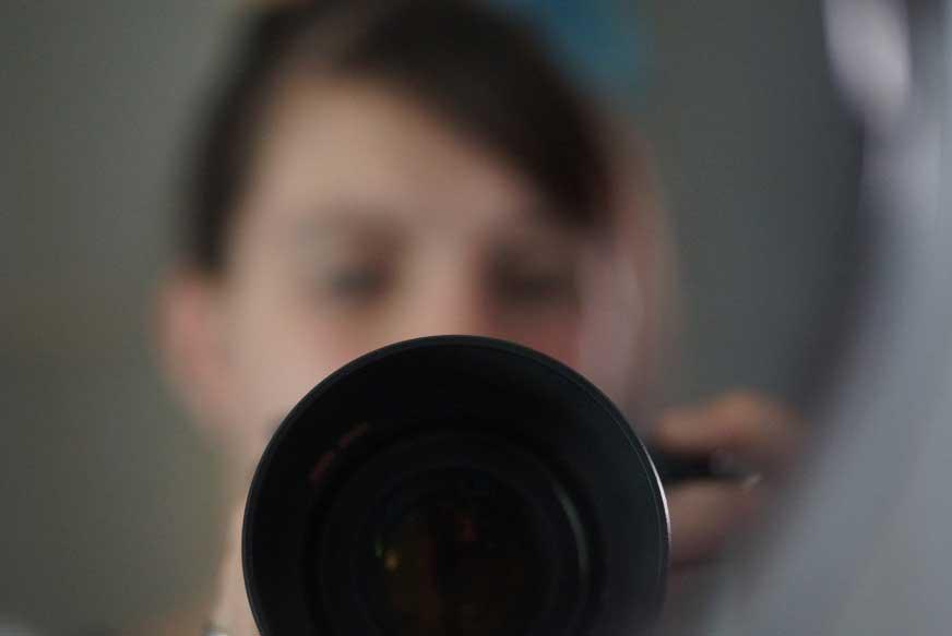 Selfies machen für den Blog