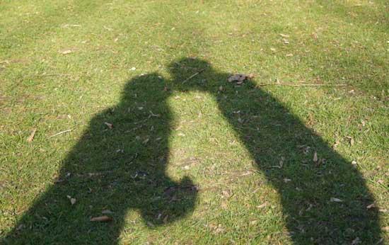 Schattenbilder - Projekt Blogfotos Selfies machen - kreativsein.blog