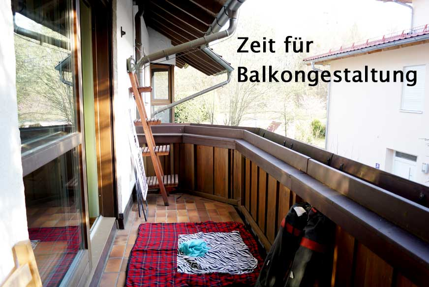 DIY Balkongestaltung, weil Frühling ist