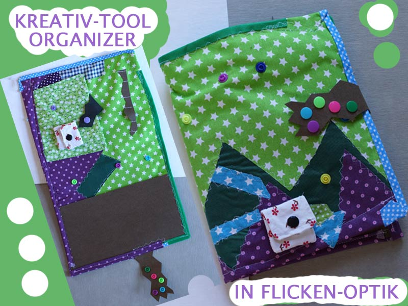Kreativ-Tool-Organizer-Tasche in Flicken-Optik