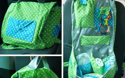 Wickeltasche mit Autorücksitz-Befestigung Selbermachen
