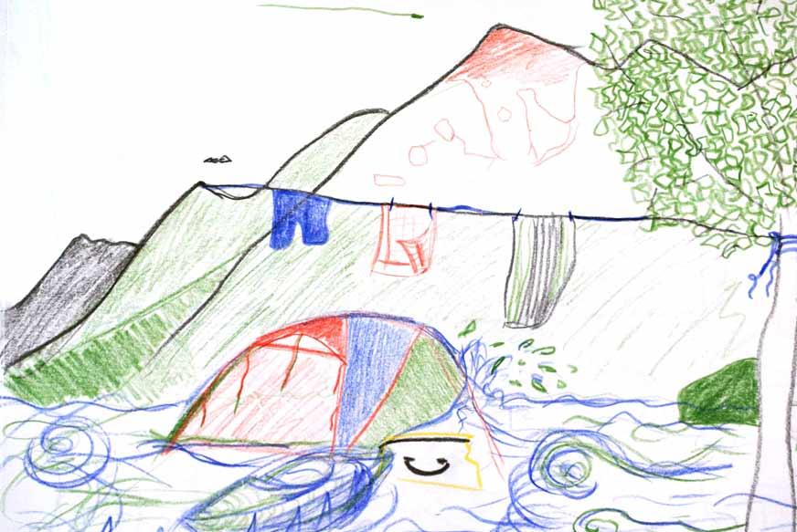 Camping und Kajak
