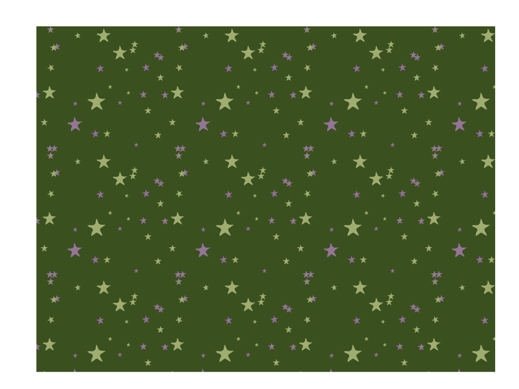 Muster Sterne grün lila