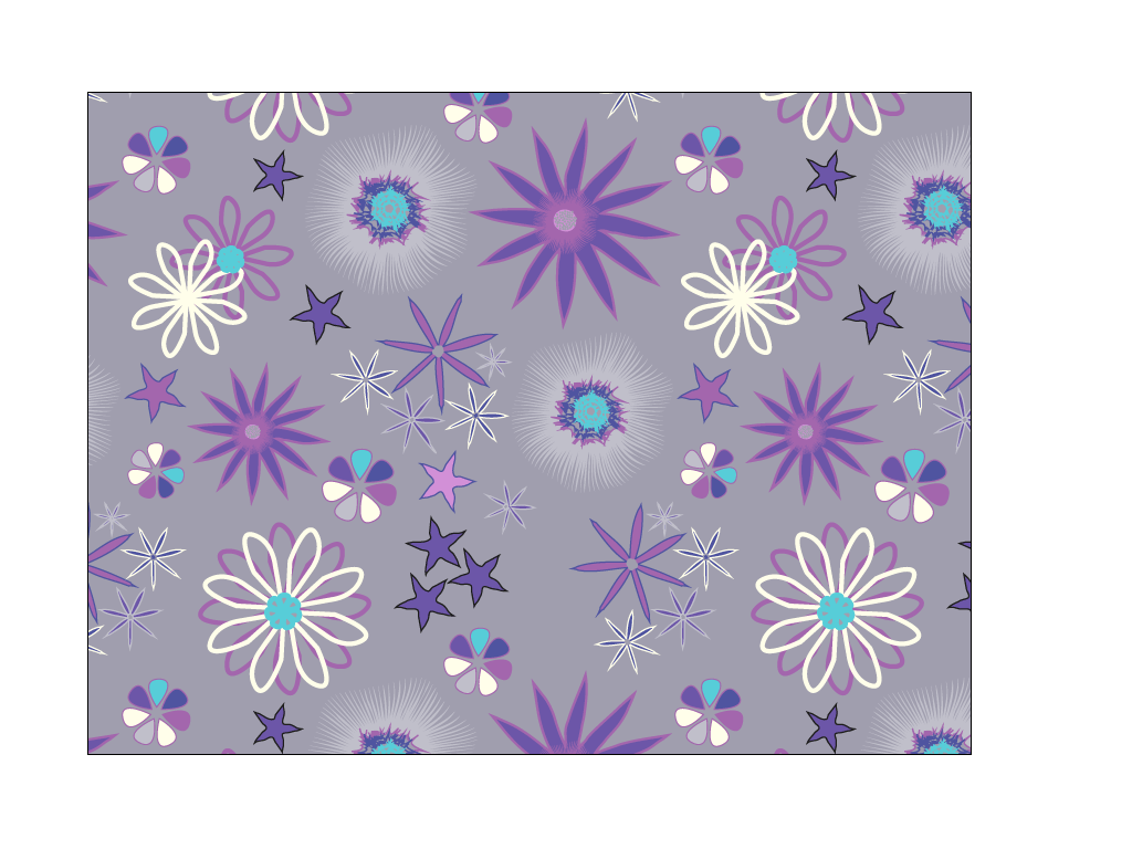 Sternblumen-2 - Repeating Pattern