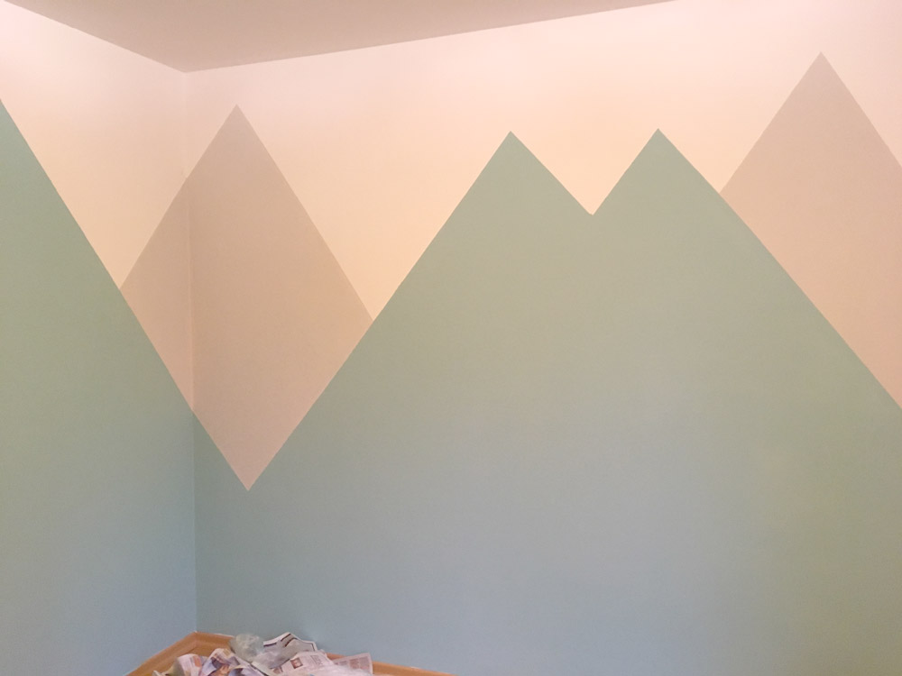 Berglandschaft kinderzimmerwand for Kinderzimmer berge