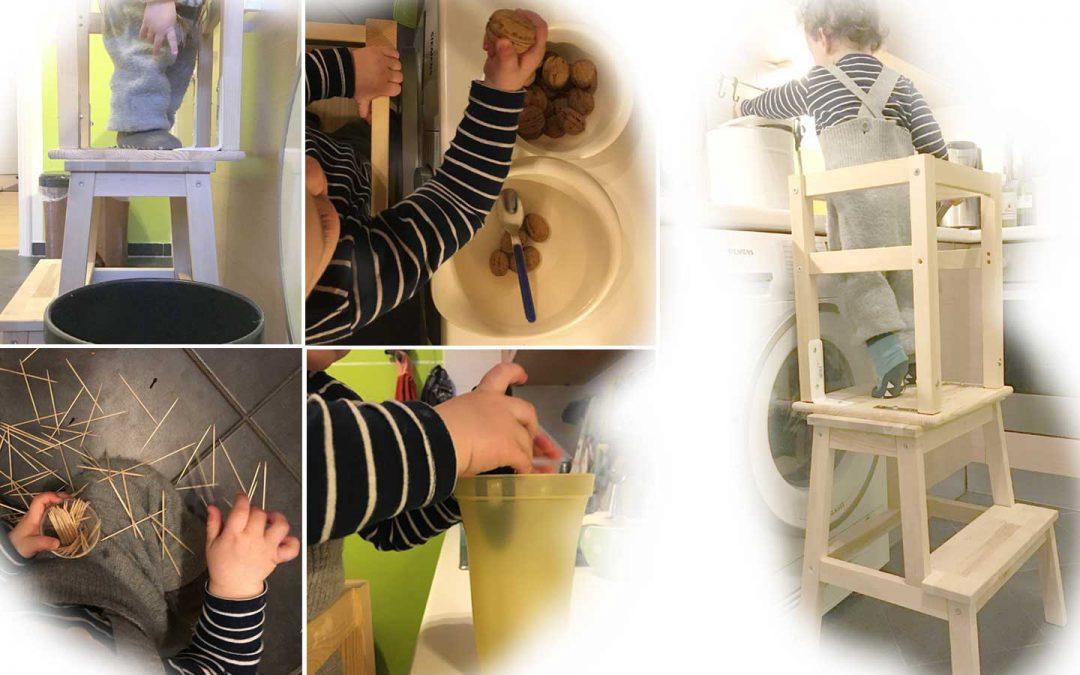 Spiele für Einjährige in der Küche