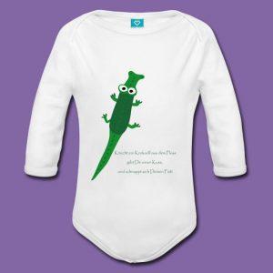 Body zum Spielen mit Reim zum Motiv Krokodil