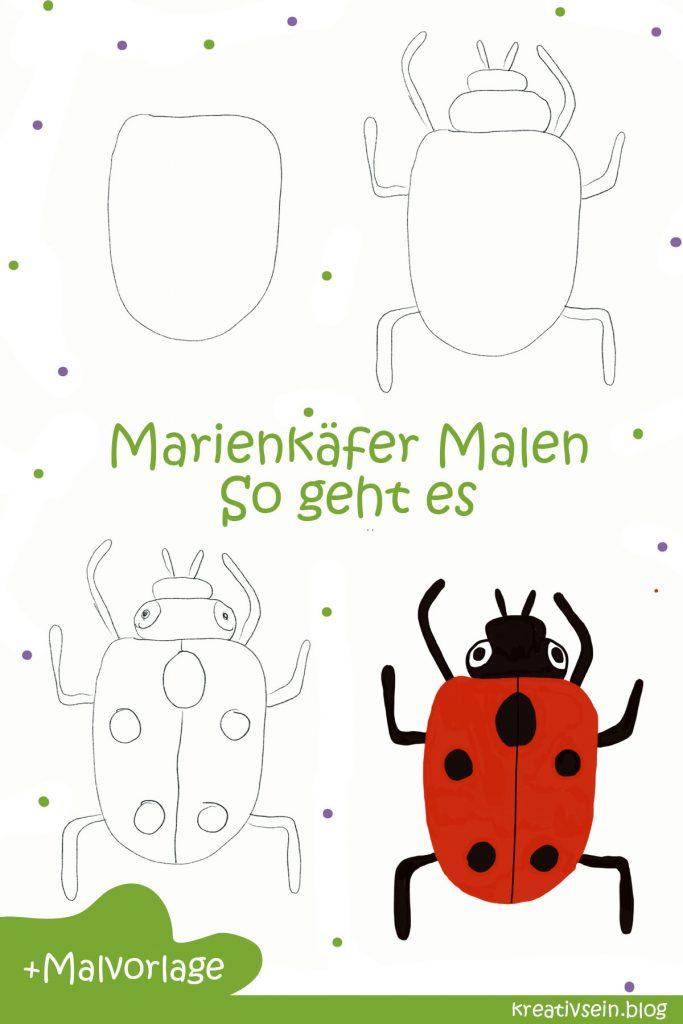 Marienkäfer Malen So geht es