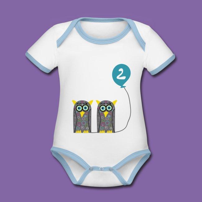 Zwei Eulen auf Baby Body