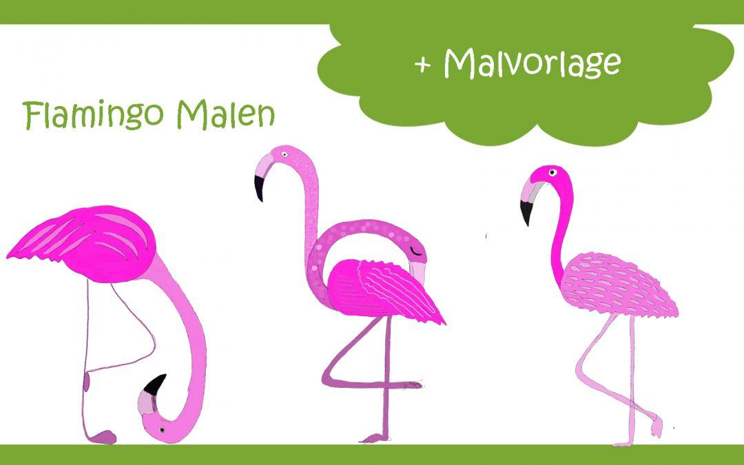 Flamingo Malen für Flamingo Fans