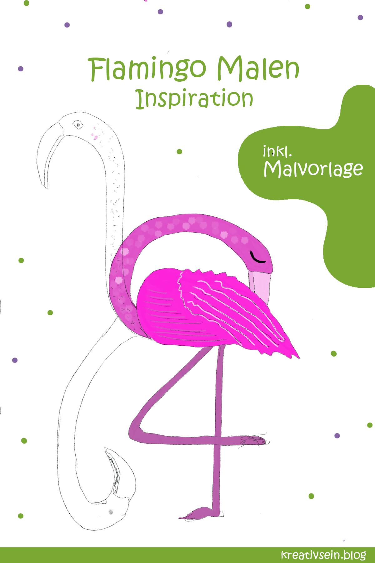 Flamingo Malen Variationen