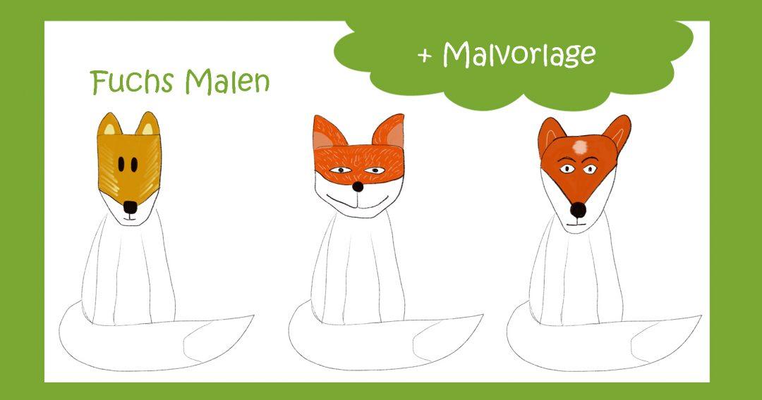 Fuchs Malen mit Malvorlage