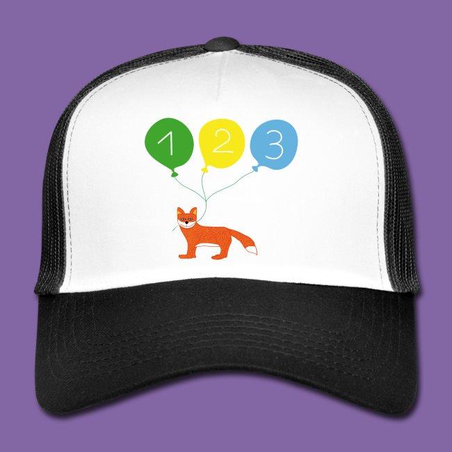 Fuchs mit Luftballon für Kinder