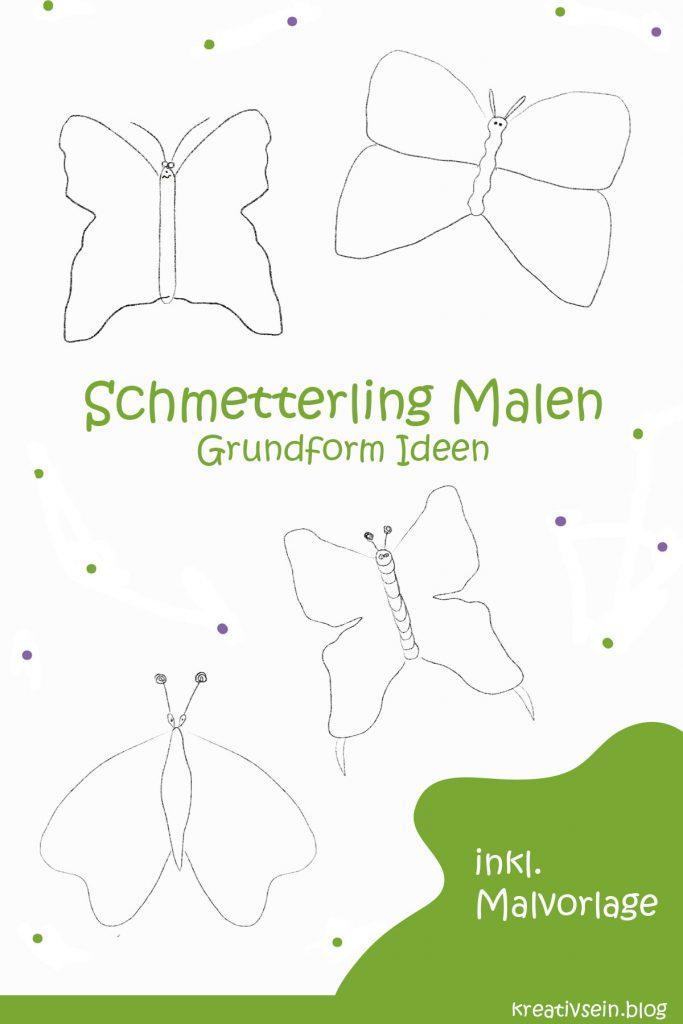 Schmetterling Malen Grundformen Körper und Flügel