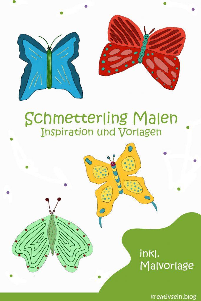 Schmetterling Malen bunte Inspiration