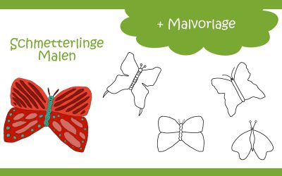 Schmetterling Malen ganz einfach