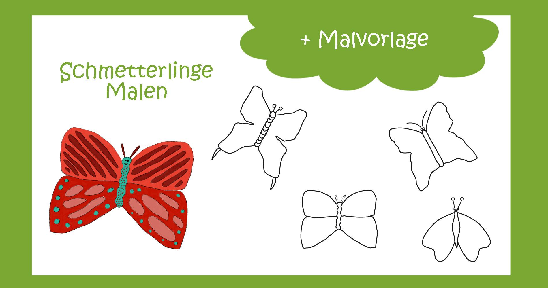 Schmetterling Malen ganz einfach - kreativsein.blog