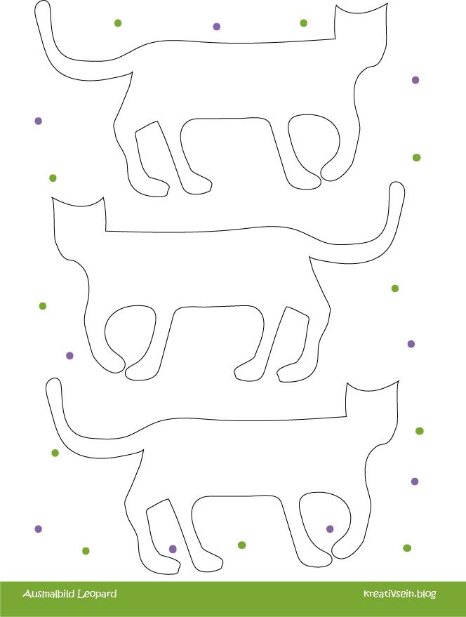 Ausmalbild Leopard Muster