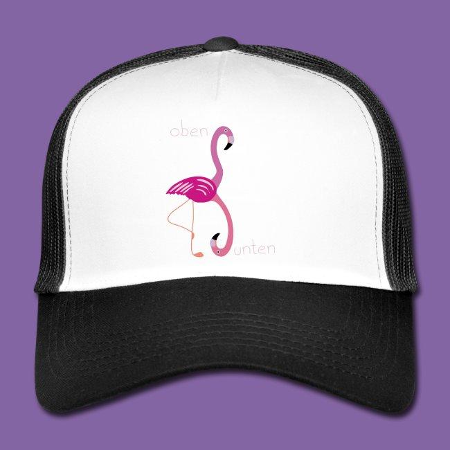 Flamingo Design oben und unten Lernen Cappy