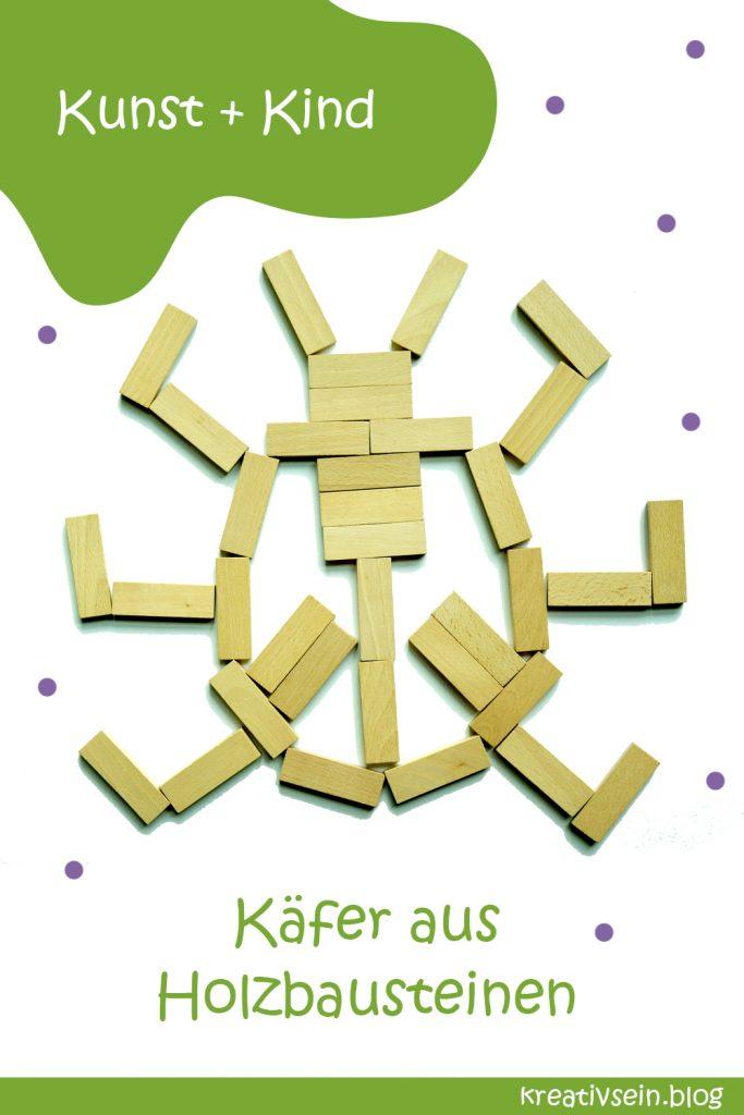 Legebilder Holzbausteine Käfer
