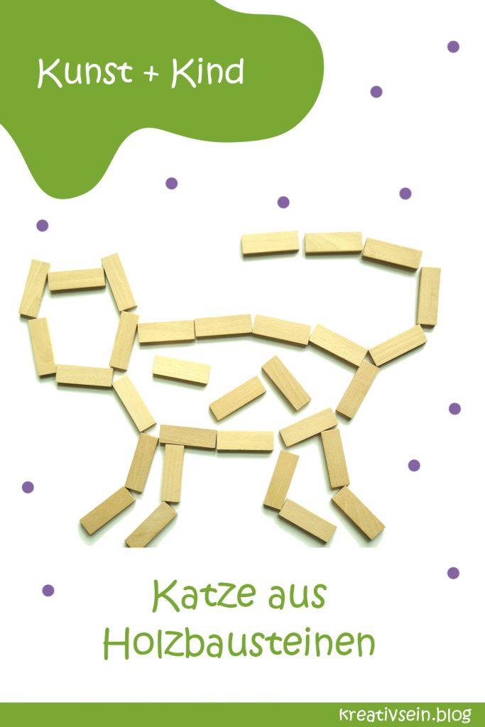 Legebild Bausteine Katze