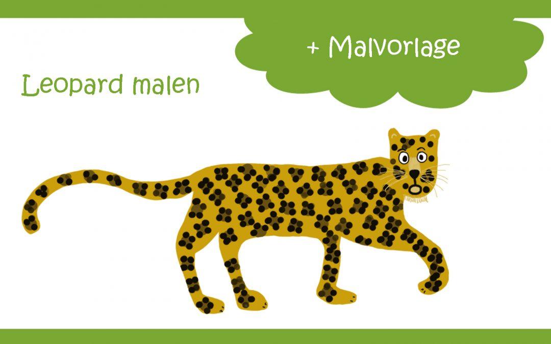 Leopard malen für Opa, weil Opa doch der LeOPArd ist!