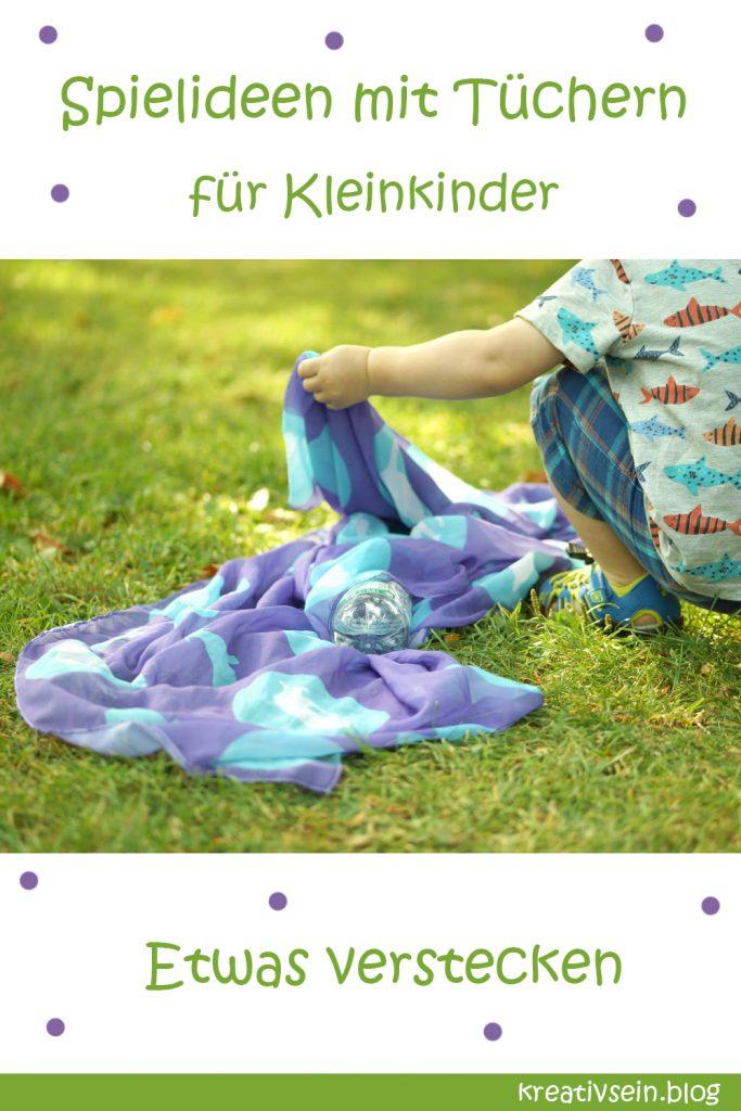 Spielidee mit Kleinkind und Tuch