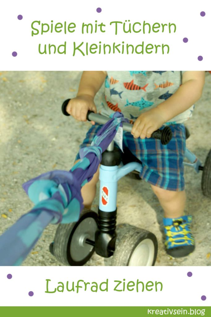 Spielidee mit Kleinkind und Halstuch