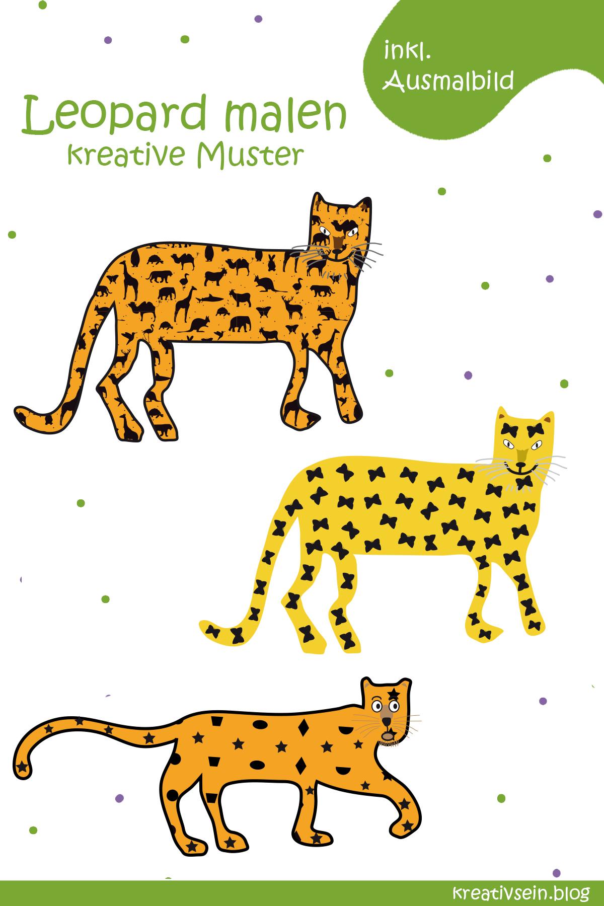Leopard malen muster