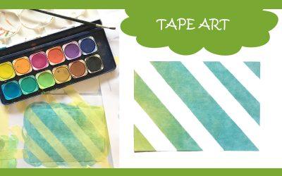 Karten Malen mit Kindern – Tape Art