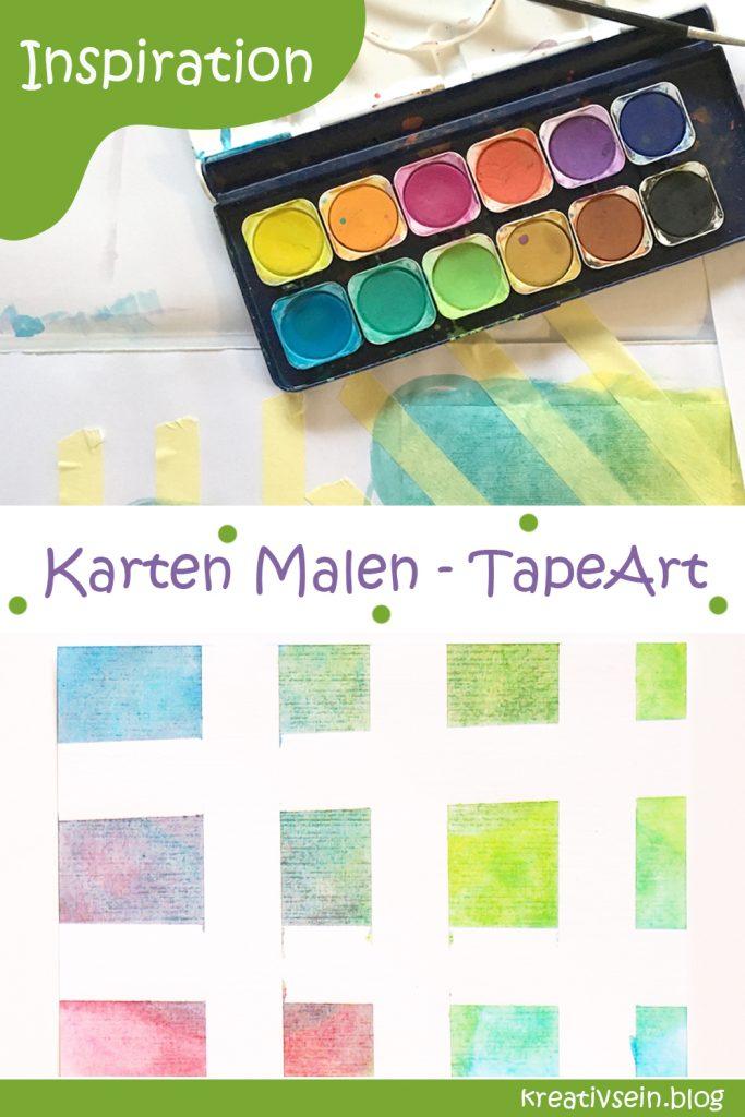 Karten Malen nach Tape Art