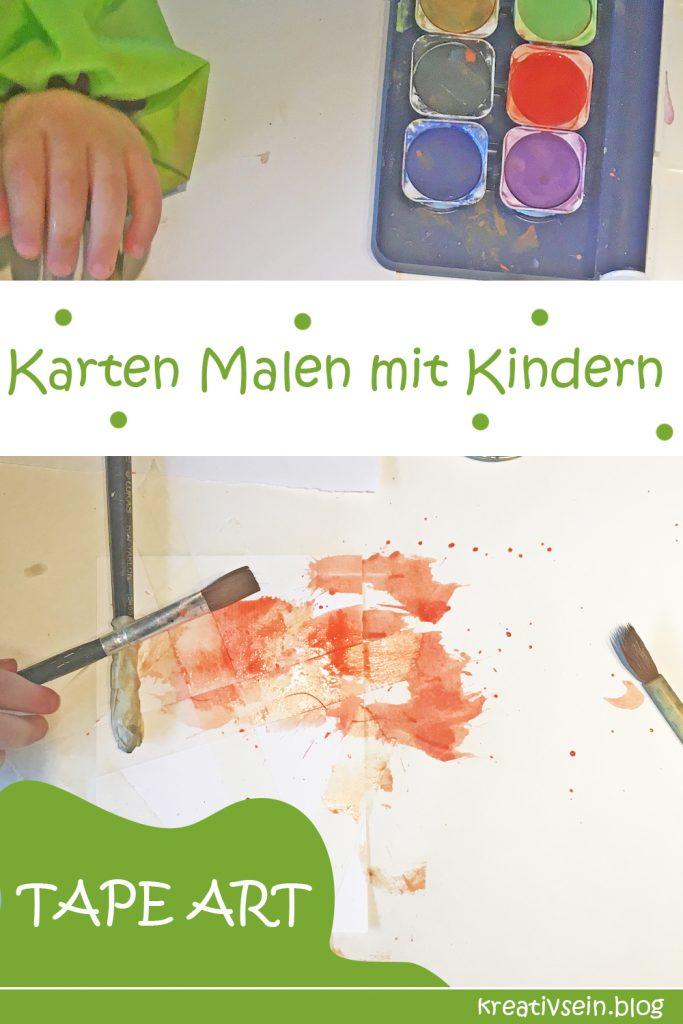 Karten Malen mit Kindern und Wasserfarben