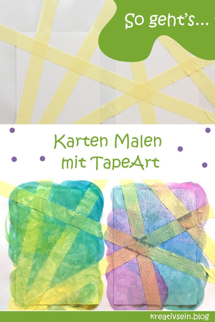 Karten Malen Tape Art