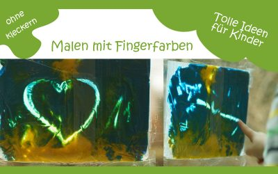 Malen mit Fingerfarben ohne Kleckern