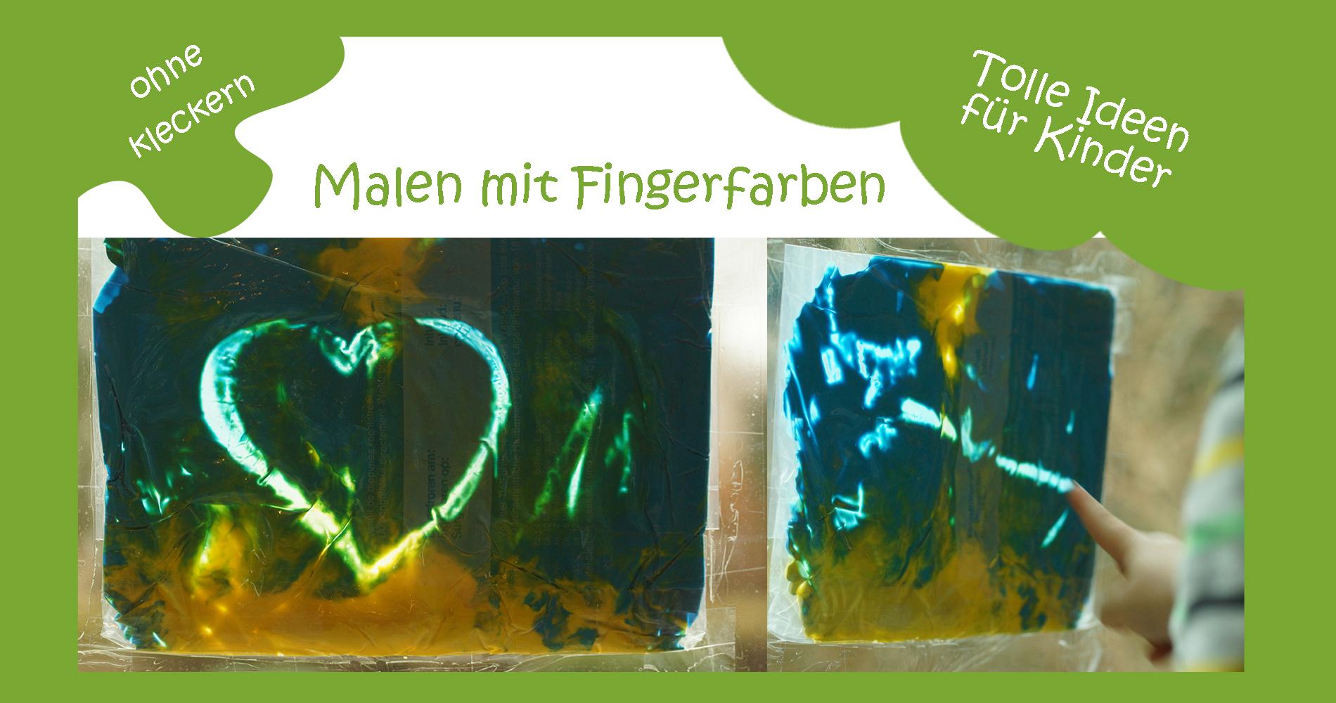 Malen mit Fingerfarben ohne Kleckern - kreativsein.blog
