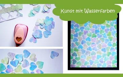 Kunstvolle Idee zum Malen mit Wasserfarben und Kindern