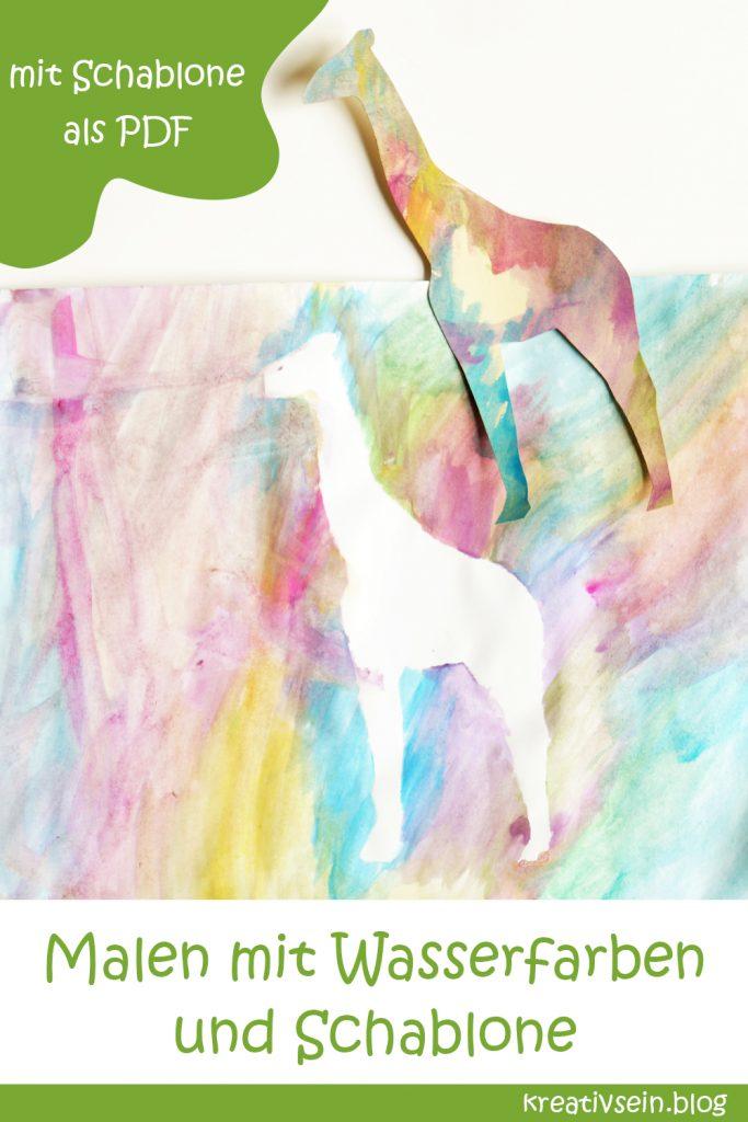 Idee zum Malen mit Kindern und Wasserfarben