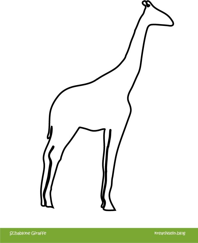 Giraffen Schablone zum Malen mit Kindern